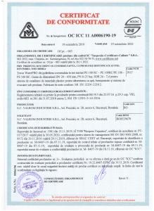 Certificat tub apa triplustrat PE100RC_PE100RC