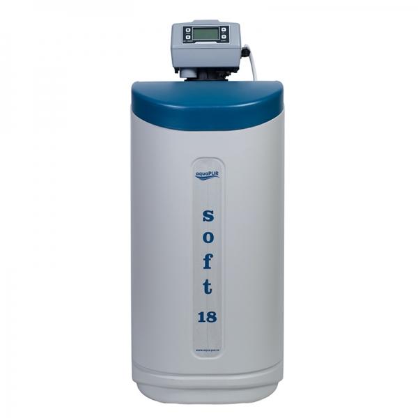 STATIE DEDURIZARE aquaPUR SOFT 18 CAB Q=1,5mc/h SARE 43KG (CU BY-PASS)